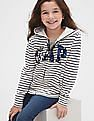 GAP White Girls Logo Flippy Sequin Hoodie Sweatshirt