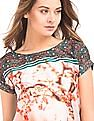 Elle Printed Front Boxy Top