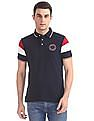 Arrow Sports Cut And Sew Panel Tipped Polo Shirt