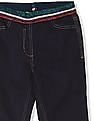 U.S. Polo Assn. Kids Blue Girls Metallic Waist Jeggings