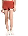 Aeropostale Red Contrast Trim Active Dolphin Shorts