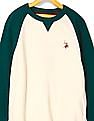 U.S. Polo Assn. Kids Boys Raglan Sleeve Colour Block Sweater