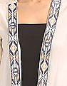 Bronz Embroidered Taping Open Front Shrug