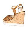 GUESS Leather Wedge Sandals