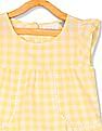 The Children's Place Girls Short Sleeve Gingham Flutter Top