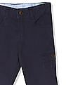 Donuts Blue Boys Solid Cotton Stretch Cargos