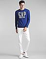 GAP Logo Graphic Crewneck Pullover Sweatshirt