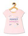 The Children's Place Pink Toddler Girl Puff Sleeve Graphic Top