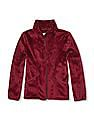 The Children's Place Girls Red Solid Faux-Fur Full-Zip Jacket