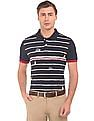 Arrow Sports Striped Front Regular Fit Polo Shirt