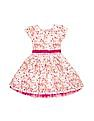 Cherokee Girls Floral Printed Fit And Flare Dress