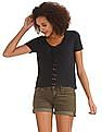 Aeropostale Lace Up Front Knit Top