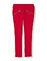 The Children's Place Girls Red Elasticized Waist Solid Jeggings