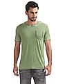 Cherokee Notched Neck Washed T-Shirt