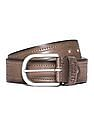 Flying Machine Burnished Leather Belt