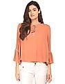 Aeropostale Bell Sleeve Crinkled Top