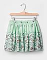 GAP Girls Green Print Flippy Skirt