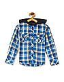 Cherokee Boys Check Hooded Shirt