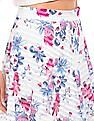 Elle Floral Print Semi Sheer Skirt