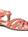 Bronz Colour Block Strappy Sandals