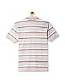 Ruggers Grey Horizontal Stripe Tipped Polo Shirt