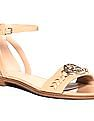 GUESS Buckled Strap Leather Sandals