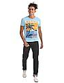 Flying Machine Regular Fit Ribbed Neck T-Shirt