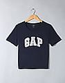 GAP Drop Shoulder Boxy Graphic Tee With Rhinestone Highlights