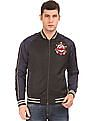 Ed Hardy Colour Blocked Appliqued Bomber Jacket