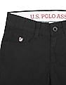 U.S. Polo Assn. Kids Boys Solid Regular Fit Trousers