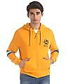 U.S. Polo Assn. Yellow Cut And Sew Panel Hooded Sweatshirt