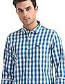 Flying Machine Spread Collar Check Shirt