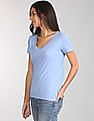 GAP Short Sleeve V-Neck T-Shirt In Vintage Wash