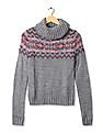 Aeropostale Turtleneck Patterned Knit Sweater