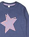 U.S. Polo Assn. Kids Girls Star Pattern Sweater Dress