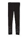 The Children's Place Girls Faux Pearl And Rhinestud Leggings