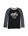 The Children's Place Boys Long Raglan Sleeve Athletic Graphic Top