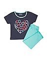 Donuts Girls Printed T-Shirt And Leggings Set