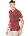 Arrow Newyork Printed Front Short Sleeve Polo Shirt